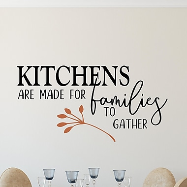 Enchantingly Elegant Kitchens Are Made for Families to Gather Vinyl Wall Decal; 27'' H x 51'' W