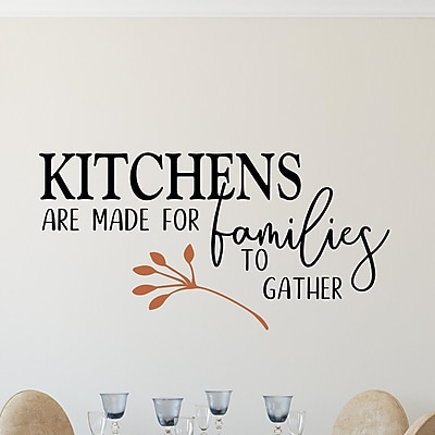 Enchantingly Elegant Kitchens Are Made for Families to Gather Vinyl Wall Decal; 17'' H x 33'' W