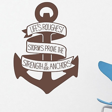 Wallums Wall Decor Life's Roughest Storms Quote Wall Decal; Chocolate Brown