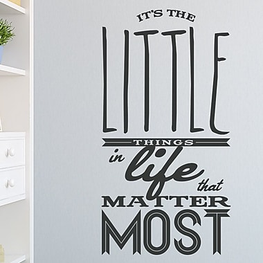 Wallums Wall Decor The Little Things in Life Quote Wall Decal; Black