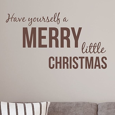 Wallums Wall Decor Have Yourself a Merry Little Christmas Wall Decal; Chocolate Brown