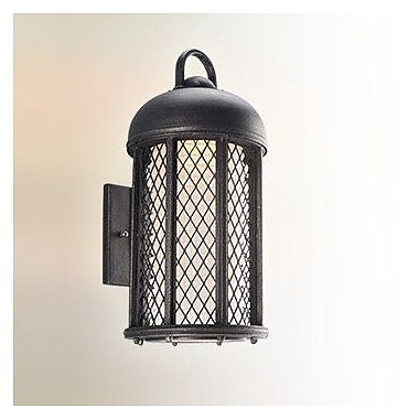 August Grove Schaffen 1-Light Outdoor Sconce; Large