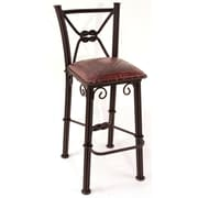 Fleur De Lis Living Chaucer Bar Stool; Antique Red