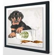 Ivy Bronx 'Oops' Framed Graphic Art Print; 33.5'' H x 33.5'' W