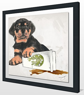 Ivy Bronx 'Oops' Framed Graphic Art Print; 27.5'' H x 27.5'' W