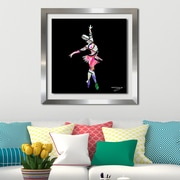 Ivy Bronx 'Dancer 3' Framed Graphic Art Print; 33.5'' H x 33.5'' W