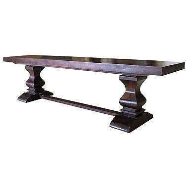 Longshore Tides Maliyah Pedestal Wood Bench; 18'' H x 72'' W x 15'' D