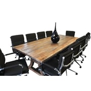Latitude Run Exaucet 11 Piece Exaucet 8' Rectangular Conference Table Set; Black