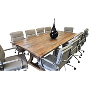 Latitude Run Exaucet 11 Piece Exaucet 8' Rectangular Conference Table Set; Taupe