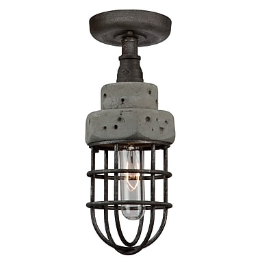 17 Stories Cearra 1-Light Semi Flush Mount