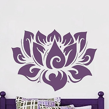 Decal House Lotus Yoga Wall Decal; Red
