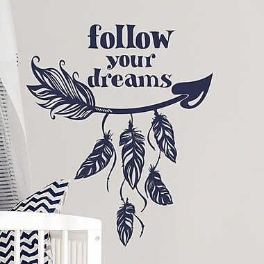 Decal House Arrow Quote Wall Decal; Mint
