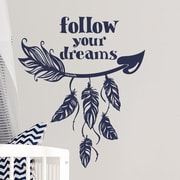 Decal House Arrow Quote Wall Decal; Red
