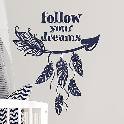 Decal House Arrow Quote Wall Decal; Blue