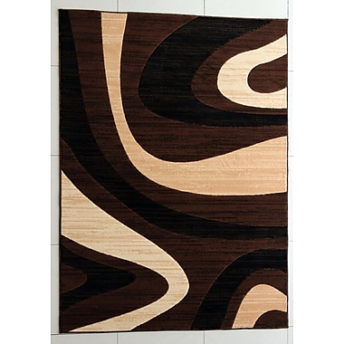 Ebern Designs Griffin Brown Area Rug; 7'11'' x 9'10''
