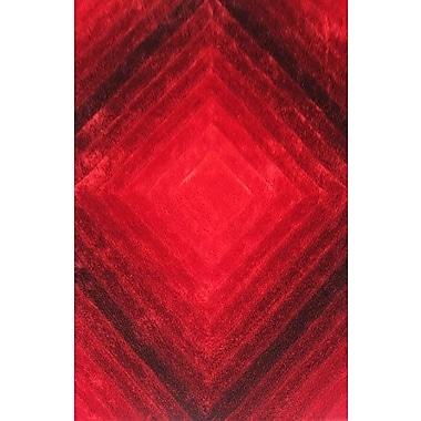Ebern Designs Greyson Red Area Rug; 5'3'' x 7'2''