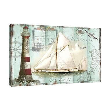 Highland Dunes 'La Mer: Ship' Graphic Art Print on Wrapped Canvas; 30'' H x 30'' W