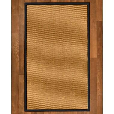 Highland Dunes Shauntel Sisal Midnight Blue Area Rug; 6' X 9'