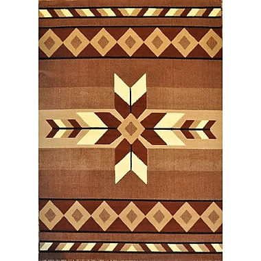 Loon Peak Esme Brown Area Rug; Runner 2'7'' x 9'10''