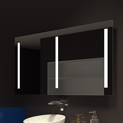 Orren Ellis Lency Rectangle Illuminated Vanity Mirror