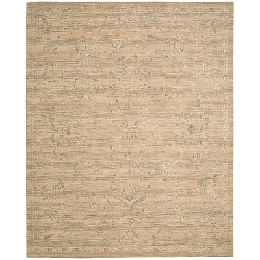 Loon Peak Ferrell Sand Leaf and Vine Area Rug; 7'9'' x 9'9''