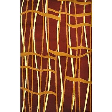 Orren Ellis Nitish Burgundy Area Rug; 5'3'' x 7'2''