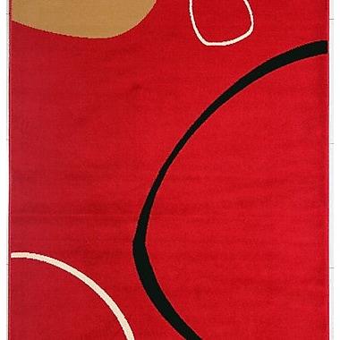 Orren Ellis Tearra Red Area Rug; 5'3'' x 7'2''