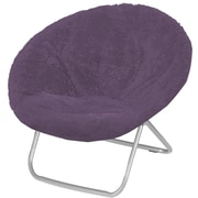 Ebern Designs Hilaria Oversized Papasan Chair; Aubergine
