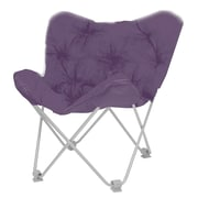 Ebern Designs Hilde Butterfly Papasan Chair; Aubergine