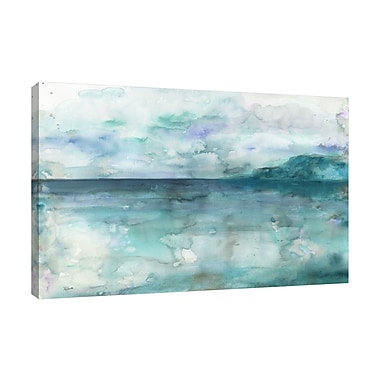 Highland Dunes 'Ocean' Watercolor Painting Print on Wrapped Canvas; 10'' H x 15'' W