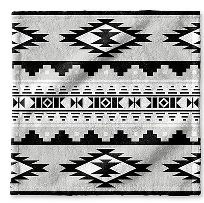 Loon Peak Fleur Wash Cloth; Gray