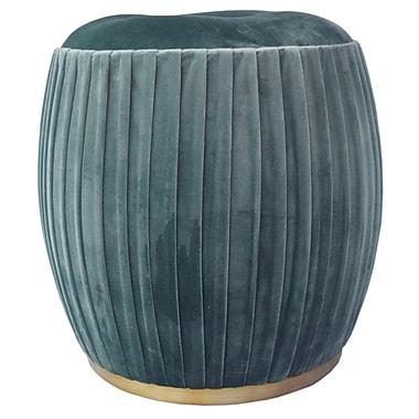 Mercer41 Felicia Ottoman; Emerald Green