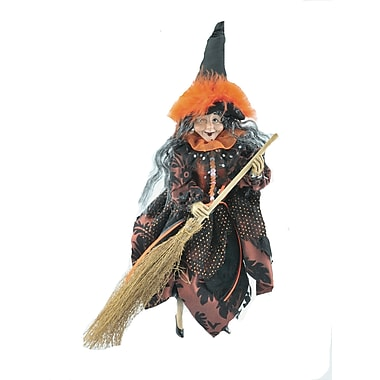 The Holiday Aisle Witch w/ Broom Shaped Ornament