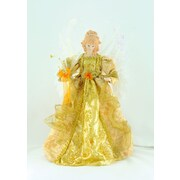 The Holiday Aisle 18'' Gold Fiber Optic Angel Tree Topper