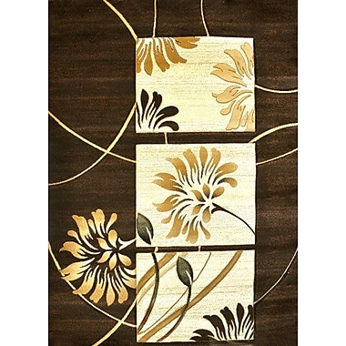 Winston Porter Hayward Brown Area Rug; 5'3'' x 7'2''