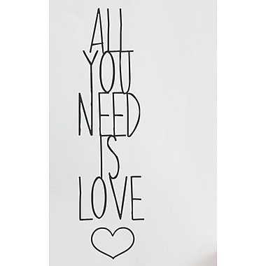 Wallums Wall Decor All You Need Is Love Wall Decal; Black