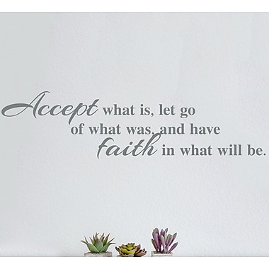 Wallums Wall Decor Accept Faith Wall Decal; Gray