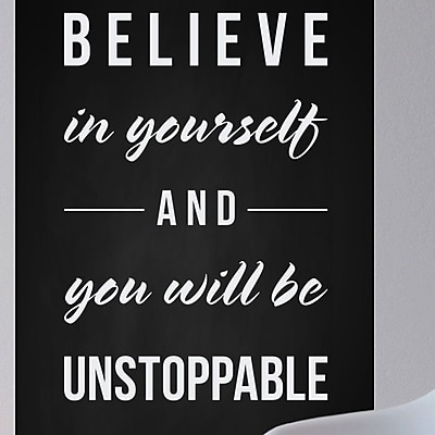 Wallums Wall Decor Believe in Yourself Wall Decal; White
