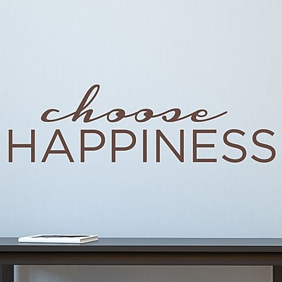 Wallums Wall Decor Choose Happiness Wall Decal; Chocolate Brown