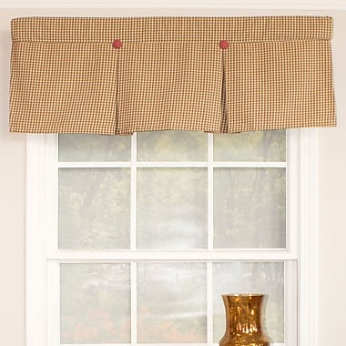 August Grove Lutterworth Pleated 50'' Window Valance; Canyon