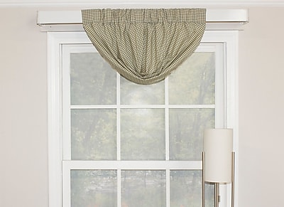 August Grove Lutterworth 24'' Window Valance; Mineral