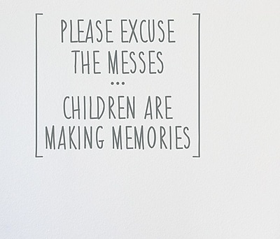 Wallums Wall Decor Children Are Making Memories Wall Decal; Gray