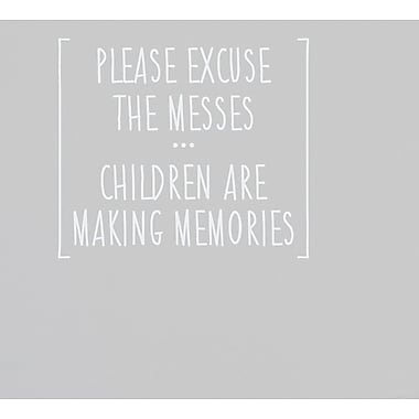 Wallums Wall Decor Children Are Making Memories Wall Decal; White
