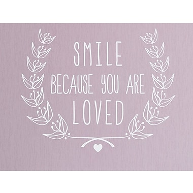 Wallums Wall Decor Smile Because You Are Loved Wall Decal; White