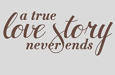 Wallums Wall Decor A True Love Story Never Ends Wall Decal; Chocolate Brown