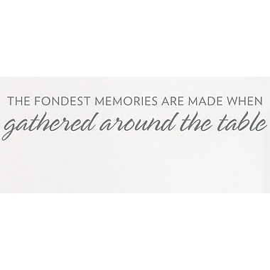 Wallums Wall Decor The Fondest Memories Wall Decal; Gray