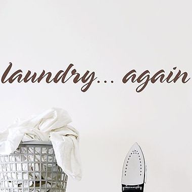 Wallums Wall Decor Laundry Again Wall Decal; Chocolate Brown