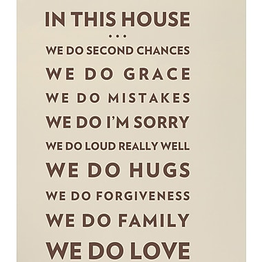 Wallums Wall Decor In This House We Do Love Wall Decal; Chocolate Brown