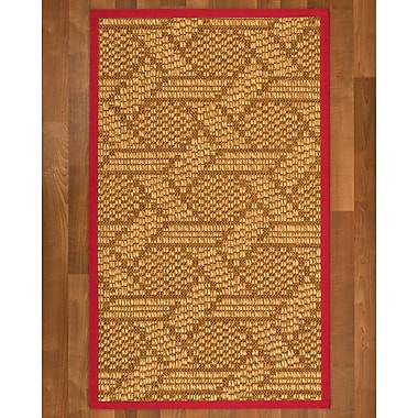 Bayou Breeze Aalin Sisal Red Area Rug; 3' X 5'