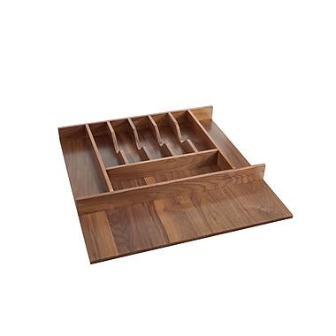 Rev-A-Shelf Small Walnut Cutlery 22'' H x 21.12'' W x 2.38'' D Drawer Organizer